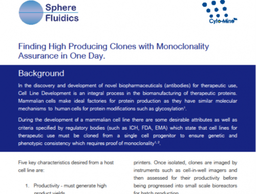 High producing clones monoclonality assurance