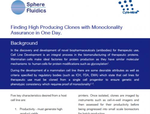 High producing clones monoclonality assurance